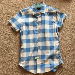 J Crew size small short sleeve button up